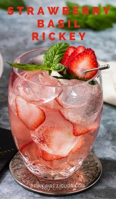 This light and fruity cocktail is perfect for the warmer days ahead. Cointreau, lime juice, strawberry, basil and club soda flavors combine to create the perfect sip.