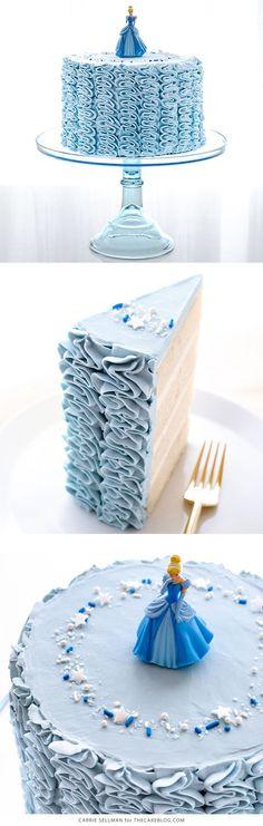 Cinderella Cake - how to make a Cinderella birthday cake with fairytale ruffles | Carrie Sellman for TheCakeBlog.com #Cakescom