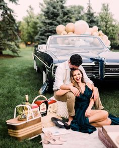 Looking for creative engagement shoot ideas? We have the cutest story for ya, coming from blogger and DIY bride Amanda Puleo who set up this enchanting scene with her guy Austin. Amanda has always loved the idea of a creative engagement, and what better way to celebrate than to recreate their first date, seeing La La Land at a local drive-in movie theater? Soak up all the fun DIY details and golden hour portraits as you scroll through the gallery by Kayla Coleman Photography Drive In Movie Theater, Cute Stories, Fun Diy, Golden Hour, Engagement Shoots, Special Events, Amanda, Guy, Scene