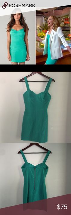 Rebecca Minkoff Teal Body Con Night out dress In excellent used condition Teal body con dress.  Measurements coming soon. Rebecca Minkoff Dresses Mini