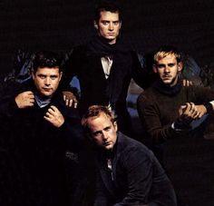 Sean Astin, Elijah Wood, Dominic Monaghan, and Billy Boyd