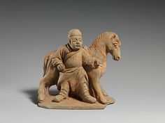 Horse and Groom, 13th century. China.The Metropolitan Museum of Art, New York. Purchase, Friends of Asian Art Gifts, 2005 (2005.25) #horses