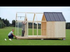 Greenhouse shed assembly Log Cabin Sheds, Tiny Log Cabins, Dream Garden, Home And Garden, Posh Sheds, Greenhouse Shed, Hot House, Small Cottages, Cabin Design