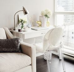White desk from Target
