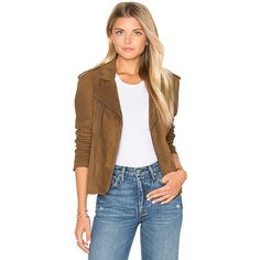 June Vintage Suede MC Jacket (27.910 RUB) ❤ liked on Polyvore featuring outerwear, jackets, coats & jackets, vintage suede jacket, brown jacket, suede leather jacket, fleece-lined jackets and brown suede jacket