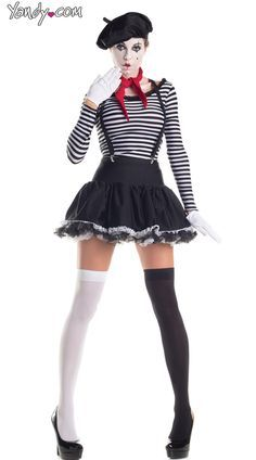 mesmerizing mime costume halloween pinterest fasching faschingskost me paar und. Black Bedroom Furniture Sets. Home Design Ideas