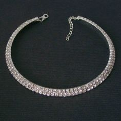 """Très beau et élégant, collier fantaisie deux rangs de strass """"Luz"""" - Les Bijoux de Camille"""