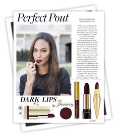 """Perfect Pout: Matte"" by talvadh ❤ liked on Polyvore featuring bellezza, GALA, Christian Louboutin e Lancôme"