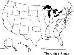 US MAP OUTLINE WITH STATES - image quotes at BuzzQuotes.com