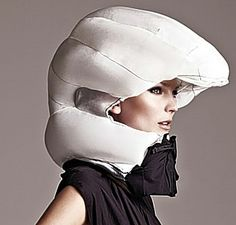 A bicycle helmet airbag system. Seems like this could be interesting once it's perfected.
