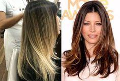 Resultado de imagem para ombre hair cabelo preto