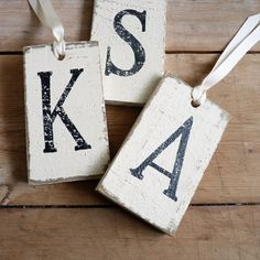 Make distressed letter tiles with silhouette cameo for unlimited sign possibilities! So pretty!