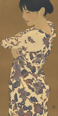 Ikenaga Yasunari- cool way to simply illustrate a print onto a style of clothing you want- without texture mapping