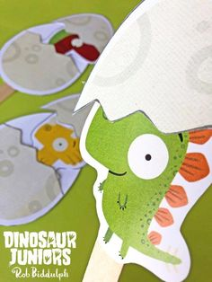 Pop Up Dinosaur Juniors (inspired by Rob Biddulph) - Red Ted Art