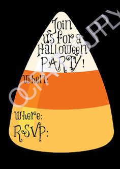 Candy Corn Halloween Invitation Instant Download by OCPartySupply