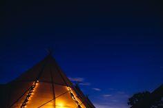 Lighting up the sky  image by Lucy Little Photography  #fairylights #magical #nighttime #sunset #atmospheric #tipis #tipis #teepees #tipisatnight #tipiwedding #teepeewedding #outdoorweddng #midlands #derbyshire #tipihire #peaktipis