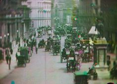 The way we were: One of the earliest known colour films in existence shows horse-drawn carriages near Hyde Park Corner, in London in 1902. The footage was painstakingly resorted by archivists at National Media Museum in the Bradford