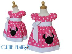 Custom Boutique style Minnie Mouse Peasant Dress by cutieflair, $48.99    Esmé birthday dress