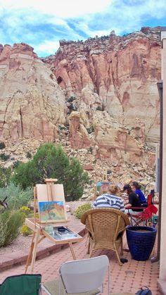 Plein air art workshop at Capitol Reef NP, Utah