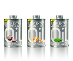 olive oil small tin cans packaging Mousegraphics