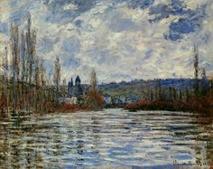 Claude Monet  French 1840-1926                                 Flood of the Seine at Vetheuil 1881