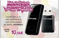 TP-Link Mini #Adaptador Inalámbrico USB N TL-WN823N 300Mbps.  http://www.opirata.com/es/tplink-mini-adaptador-inalambrico-tlwn823n-300mbps-p-9860.html