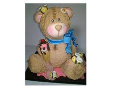 Oso de porcelana, adorno de osos para pastel, cake topper bear, escultura de…