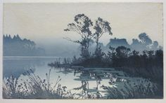 Oscar Droege (1898 - 1982) Colour woodcut