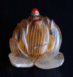 Chinese Carved Crystal Snuff Bottle
