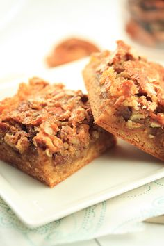 Maple Pecan Bars - recipe at http://www.sheknows.com/food-and-recipes/articles/820691/Maple-pecan-bars