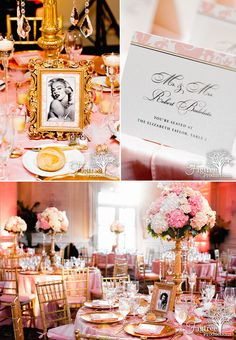 Retro Starlets and Pink wedding details at Meadow Wood Manor in Randolph, NJ