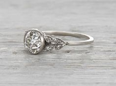 1.17 Carat Edwardian Engagement Ring