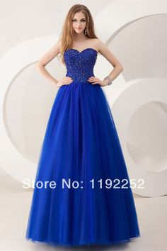 2014 new style custom made blue sexy sweetheart plus size prom dress with beading,crepe for wedding,prom,party,brides,homecoming $150.00