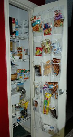Need to try this for kitchen extra pantry storage with a shoe organizer