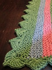 Ravelry: NullSet's Cathedral Edging for Baby Blankie