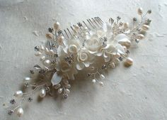 Bridal headpiece. Bridal hair accessories. by ShesAccessories, $198.80