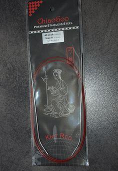 ChiaoGoo Red Cirkular 100cm - ChiaoGoo Red Cirkular 2.0mm