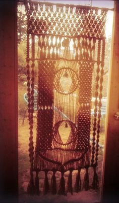 Macrame curtain - very boho