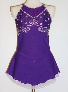 Custom Made to Fit Lovely Figure Skating Dress with Crystals | eBay