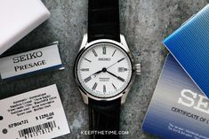 Seiko Presage White Enamel Dial SPB047J1 Seiko Presage, 316l Stainless Steel, Beautiful Watches, White Enamel, Luxury Watches, Geek Stuff, Band, Crystals, Accessories