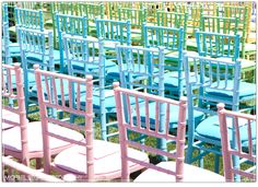 rainbow wedding chairs