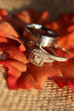 Fall wedding ring photo