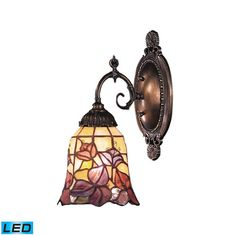 Mix-N-Match Tiffany Bronze LED One Light Wall Sconce with Full Range Dimming