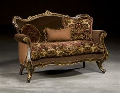Victorian furniture, gilded loveseat luxury furniture