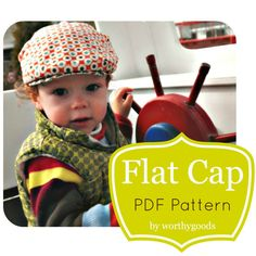 Newsboy Hat PDF Pattern - Boys Baby Toddler Flat Cap in 4 Sizes from 6 Months to Pre-Teen - Childrens Hat Sewing Pattern