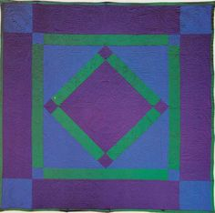 """So what's all this buzz about """"new modern quilting"""" ?? The Amish were doing it 100+ years ago !! Center Diamond, 1900.Lancaster Co, PA"""