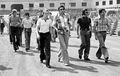 James Hunt, Jackie Stewart, Niki Lauda, Emerson Fittipaldi and Jody Scheckter Spanish Grand Prix 1975