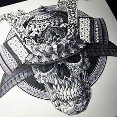 Samurai skull..