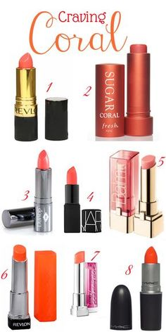 Guide to Coral Lipstick In love with corals right now!