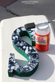 Ill be trying this for christmas gifts...diy photo collage letters, crafts, decoupage, diy